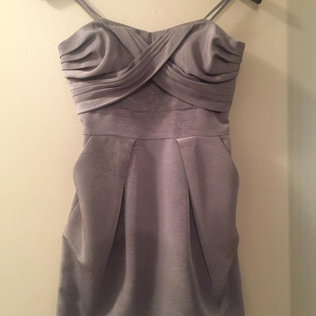 Item - Gray Strapless Short Cocktail Dress Size 4 (S)