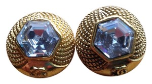 Chanel Authentic CHANEL Straus Crystal Earrings