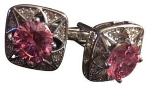 Other Men's Rhinestone & Pink High Quality Cufflinks