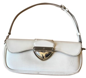 Louis Vuitton Ivory Leather White Clutch