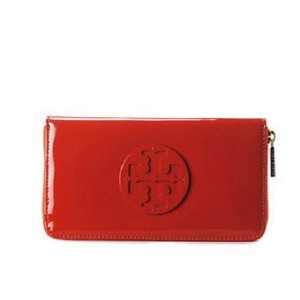 Tory Burch stacked patent zip continental