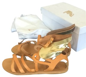 Ancient Greek Sandals Brown/Gold Sandals
