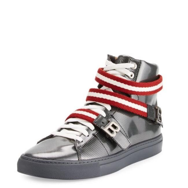 Item - Silver Red White New Men's Sneakers Size US 13 Regular (M, B)