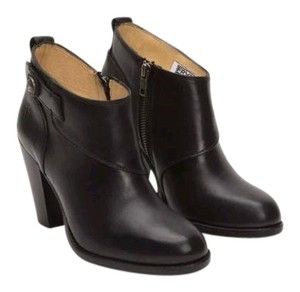 Frye Jenny Leather Ankle Black Boots