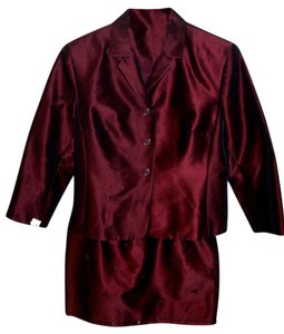 Ann Taylor Beaded suit opalescent Maroon suit...listing ends MN 5/10