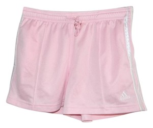 adidas Pink/White Striped 100% Polyester Running Shorts Size M