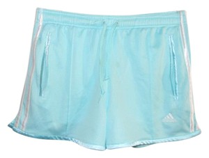 adidas Blue /White Striped 100% Polyester Running Shorts Size S