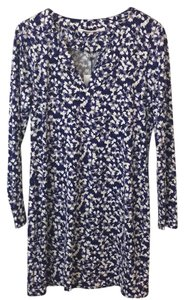 Diane von Furstenberg short dress purple print on Tradesy