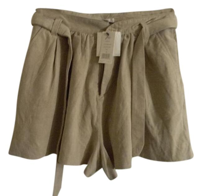 Joie Taupe Light Weight Suede Belted Shorts Size 6 (S, 28) Joie Taupe Light Weight Suede Belted Shorts Size 6 (S, 28) Image 1