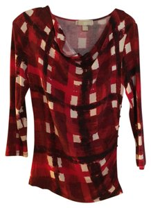 Michael Kors Top Red Multi