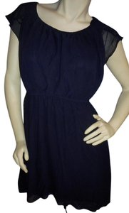 Sweet Storm short dress Navy blue Comfortable Pullover Mini Flowing Up Or Down on Tradesy