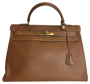 Herms Satchel in tan