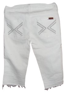 7 For All Mankind Capris Off White