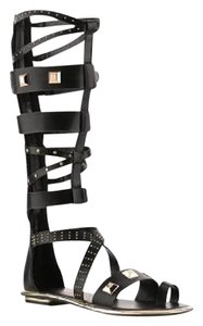 Fergie black with gold studs Sandals