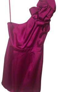 The Limited One Fancy Silk Cocktail Magenta Dress