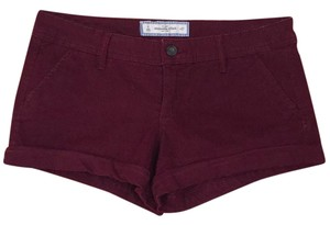 Abercrombie & Fitch Cuffed Shorts Burgundy