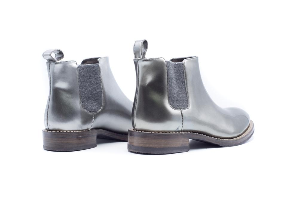 pretty nice 0f96b a28bb Brunello Cucinelli Metallic Women's Leather Silver Ankle Boots/Booties Size  US 7 Regular (M, B)