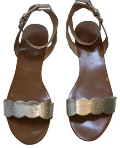 Sole Society crackled silver Sandals