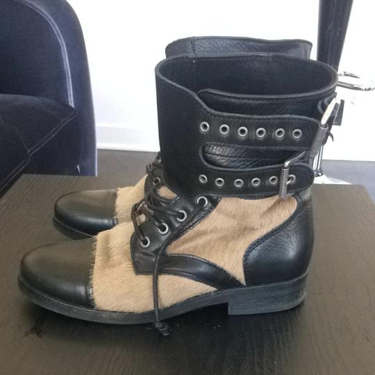AllSaints Fur Snow Fashion Comfortable Horse Nyc London 7 Leather And Hair Boots Boots