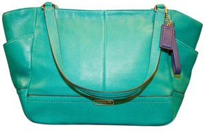 Coach Leather Blue Shoulder Bag