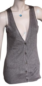 New York & Company Vest Button Down Shirt BROWN