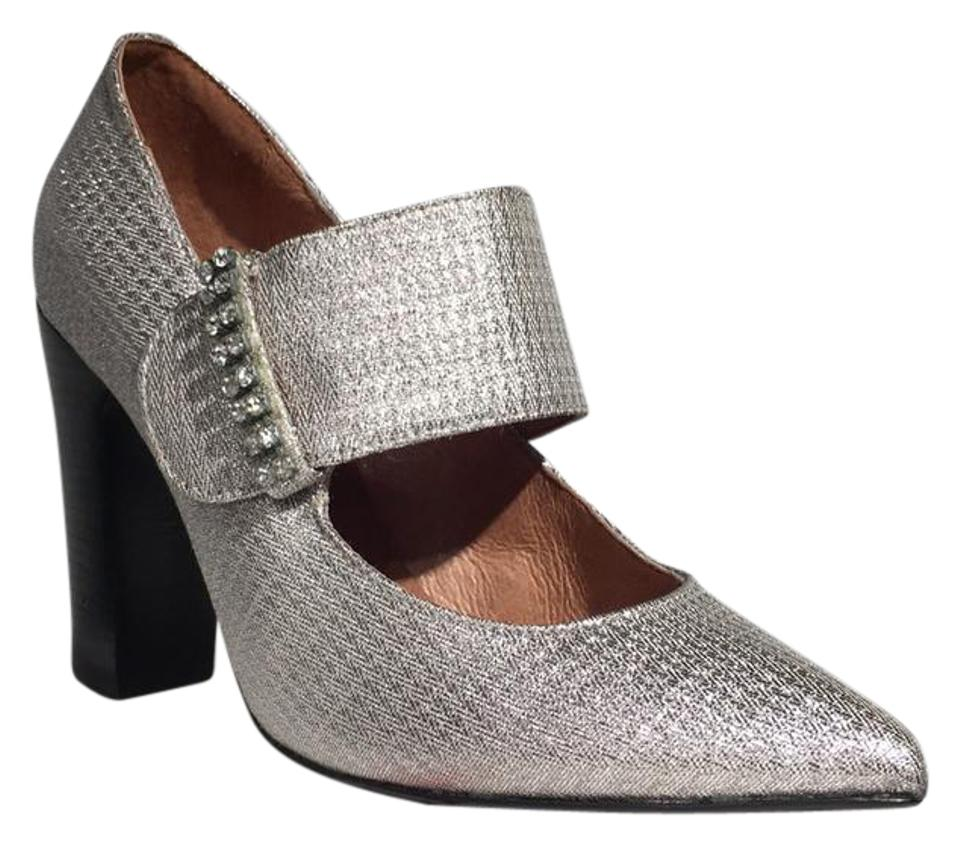 See Mary by Chloé Silver Sb1050 Mary See Jane Heel Pumps bf6581