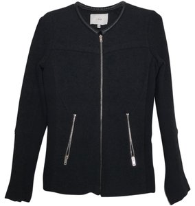 IRO Jacket Black Wool Leather Blazer