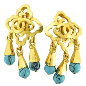 Chanel Chanel 97 P Turquoise Earrings