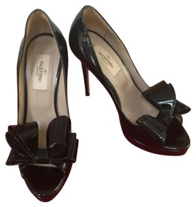 Valentino Bow D'orsay Black Pumps Platforms