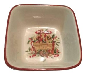 Longaberger Nature's Garland Small Square Bowl