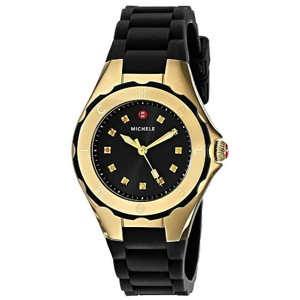 Michele NEW-MICHELE-MWW12P000012-GOLD-TAHITIAN-JELLY-BEAN-BLACK-RUBBER-WOMENS
