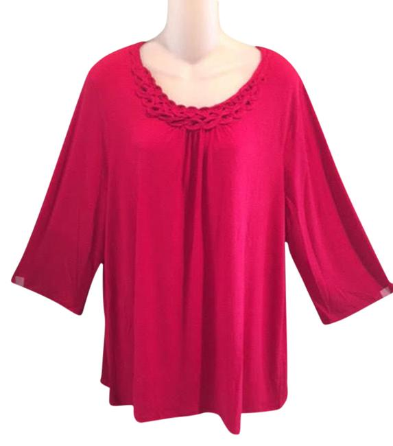 Item - Red For Catherine's Women's 0x Blouse Size 18 (XL, Plus 0x)