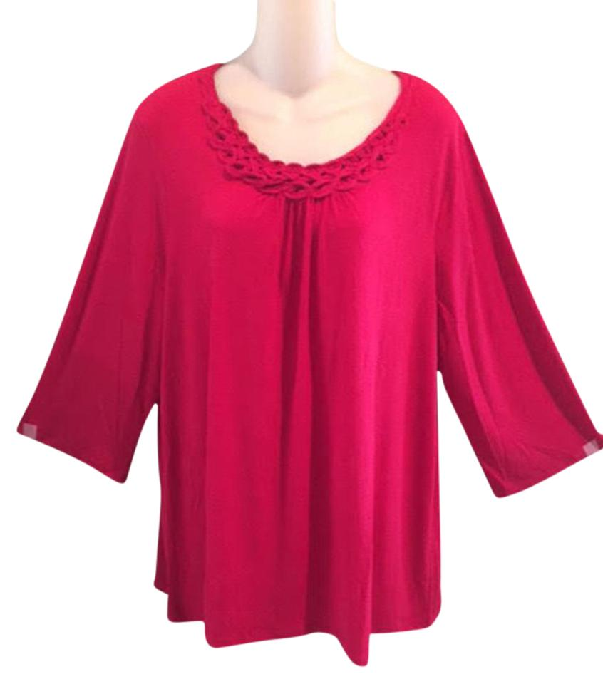 3b6597df65062 Maggie Barnes Red For Catherine s Women s 0x Blouse Size 18 (XL ...
