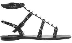 Valentino Rockstud Leather New black Sandals
