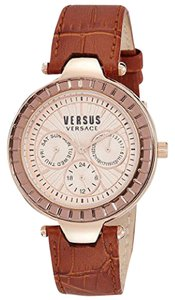 Versace NEW WOMENS VERSUS VERSACE (SOS050015) SERTIE ROSE GOLD LEATHER WATCH