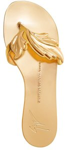 Giuseppe Zanotti Wings Metallic Thong New gold Sandals