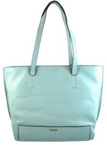 Fossil Tote in sea glass blue