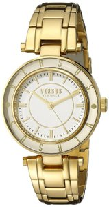 Versace NEW WOMENS VERSUS BY VERSACE (SP8200015) LOGO YELLOW GOLD TONE WATCH