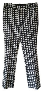 Zara Boot Cut Trouser Pants Black and White Patterned
