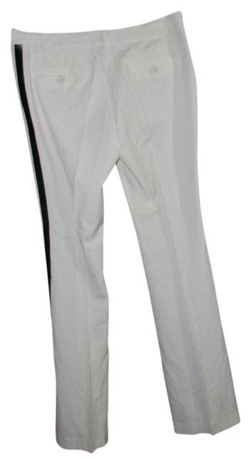 Victoria's Secret Off White The Kate Fit Striped Tuxedo Pants Size 6 (S, 28) Victoria's Secret Off White The Kate Fit Striped Tuxedo Pants Size 6 (S, 28) Image 1