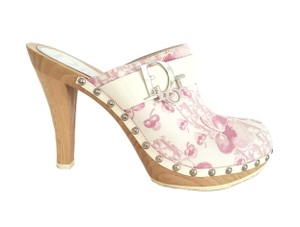 Dior Girly Collection Cherry Print Pink Mules
