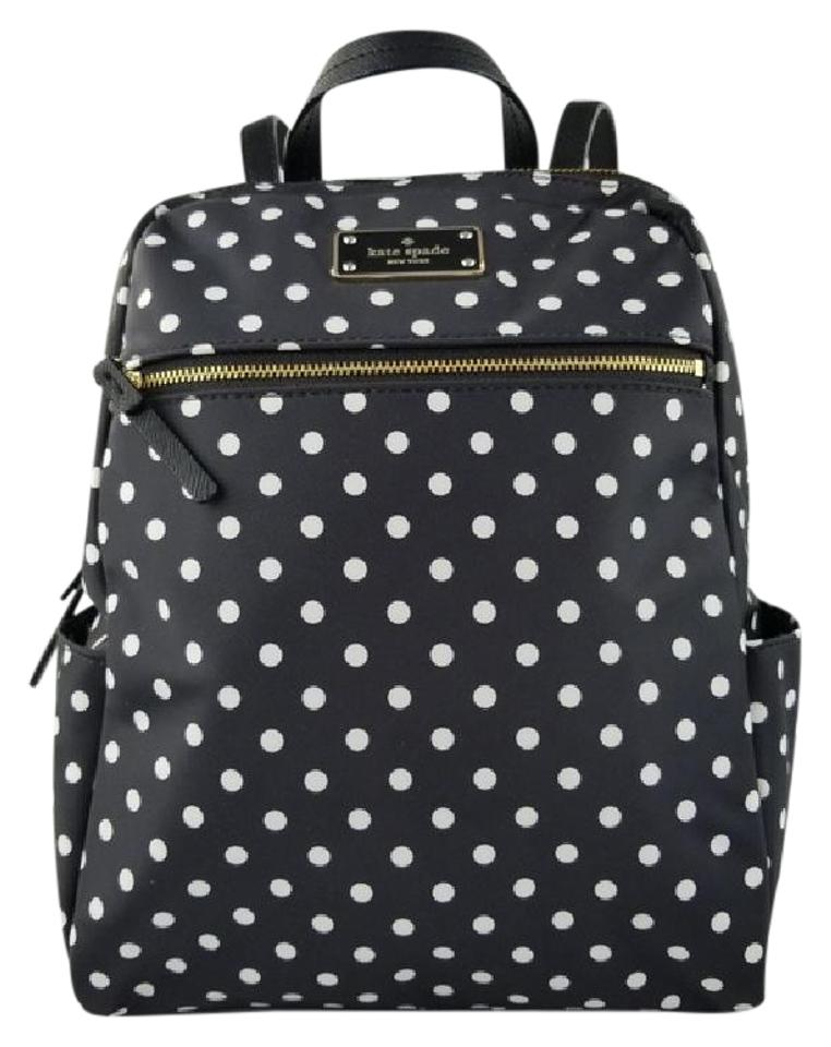 Kate spade avenue hilo black and white polka dot nylon backpack kate spade hilo backpack junglespirit Image collections