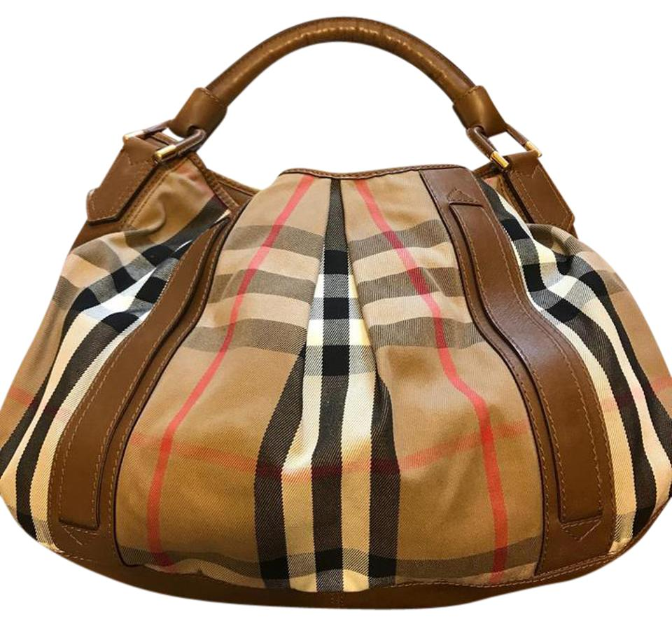 Burberry Brown Leather and Cloth Shoulder Bag - Tradesy 1e6aa8448e4af
