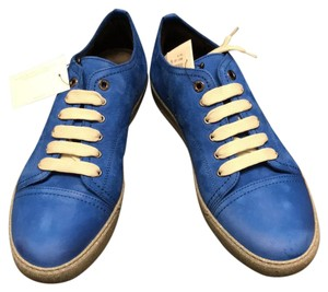 Lanvin Sneaker Lowtop Nubuck Calfskin Leather blue Athletic