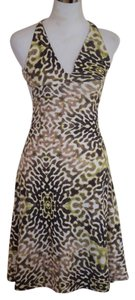 Just Cavalli Halter Animal Color Dress
