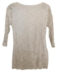 New York & Company Top White Lace
