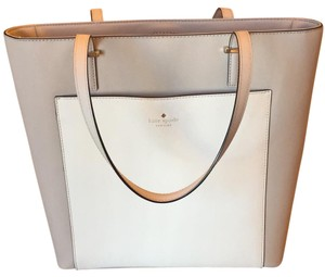 Kate Spade Tote in Nude/White