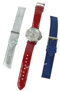 Guess Guess W0858L2 Women's Silver tone Watch with 3 Changeable Straps