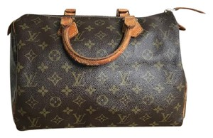 Louis Vuitton Speedy 30 Monogram Satchel in Brown