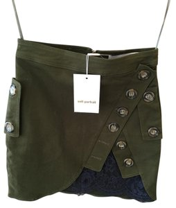 self-portrait Mini Skirt Green